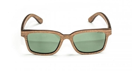 Nash Wooden Green Glasses