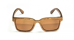 Nash Wooden Amber Glasses